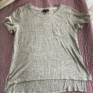 The Limited gray T-shirt with front pocket